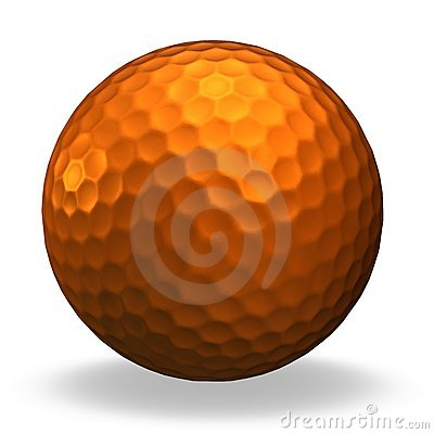 Bronze golf ball