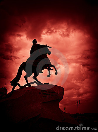 The Bronze Horseman monument in St Petersburg