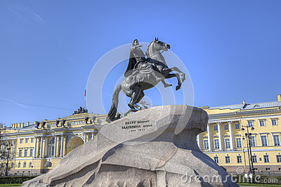 The Bronze Horseman - monument in St Petersburg
