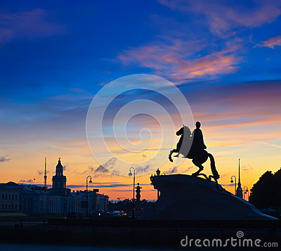 Bronze Horseman in St.Petersburg
