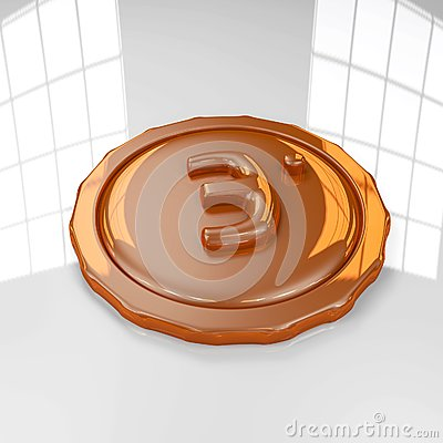 Bronze Medal 3D Royalty Free Stock Photography - Image: 19137637