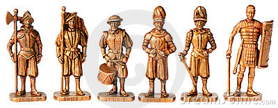 Bronze miniature statuettes