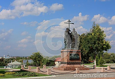 Bronze monument to Cyril and Methodius