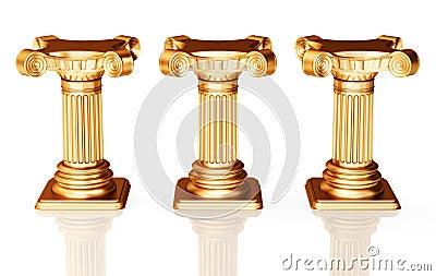 Bronze pedestals
