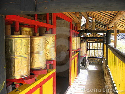 Bronze prayer wheels