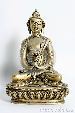 Bronze sculpture of buddha