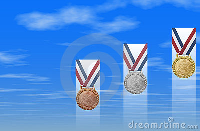 Bronze Silver Gold Medals