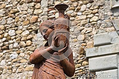 Bronze statue.