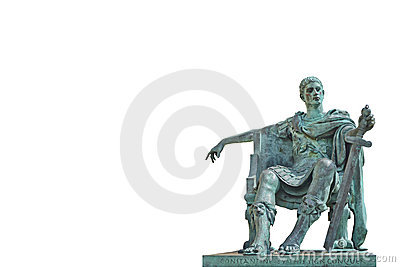 Bronze statue of Constantine Editorial Stock Image