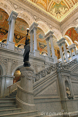 Bronze Statue in the Entrance Hall to the Library of Congress