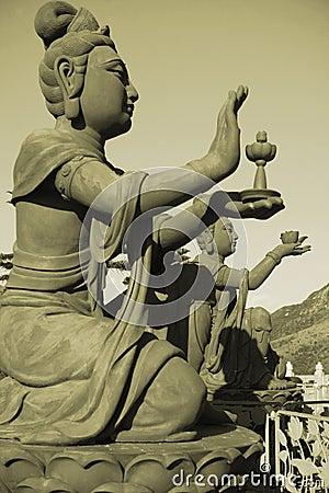 A bronze statue of fairy in Hong Kong