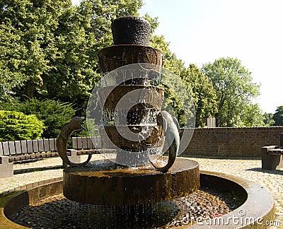 Bronze statue fountain