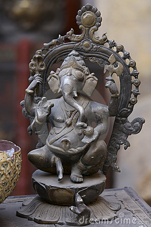 Bronze statue of Ganesh