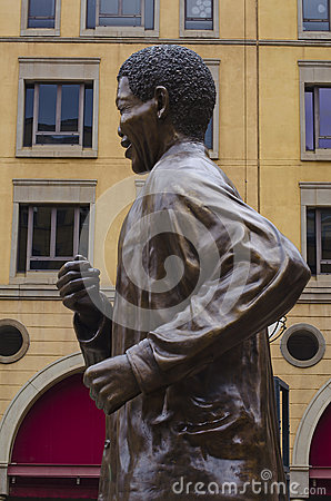 Bronze statue of Nelson Mandela Editorial Photo