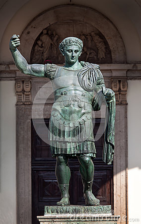 Free Bronze Statue Of The Roman Emperor Constantine In Milan, Italy Royalty Free Stock Image - 53554236