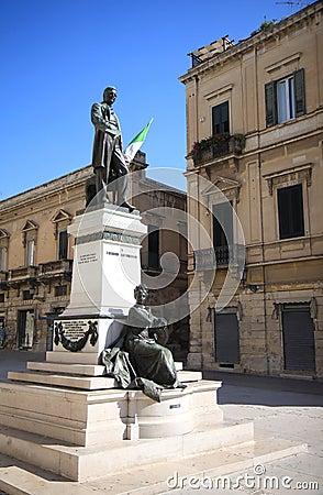 Bronze statue to Sigismondo Castromediano, Lecce, Italy