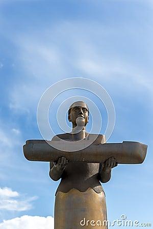 Bronze woman sculpture, Bodo