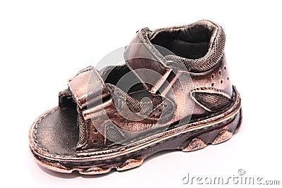 Bronzed baby shoe