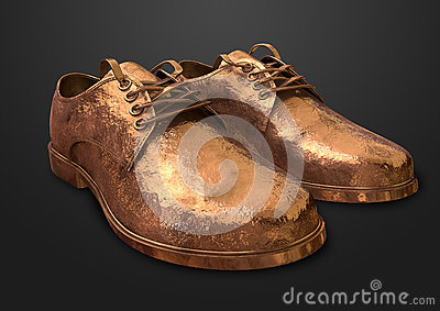 Bronzed Pair Of Shoes