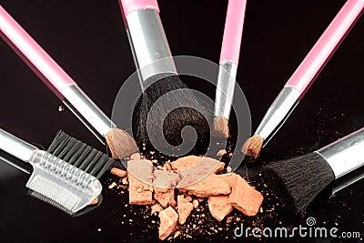 Bronzer and brushes
