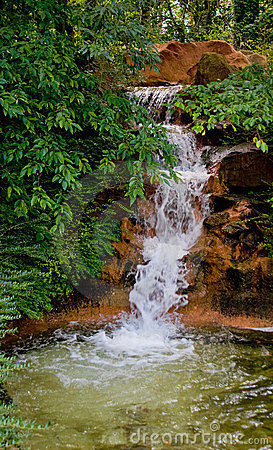 Brook stream with waterfall