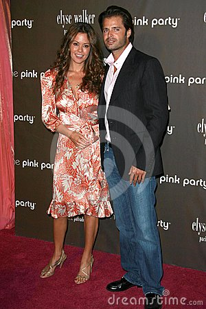 Brooke Burke, David Charvet Editorial Stock Photo
