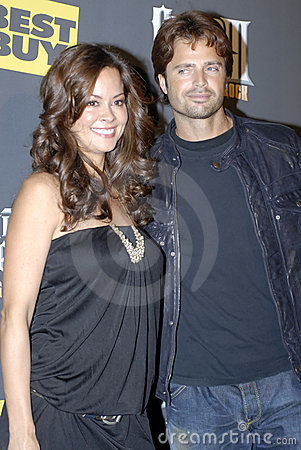 Brooke Burke and David Charvet on the red carpet Editorial Photo