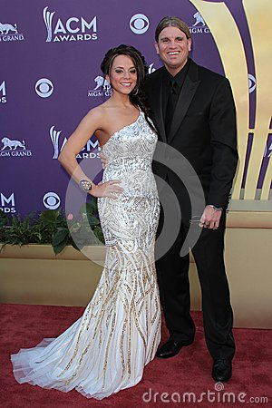 Brooke Burrows at the 47th Academy Of Country Music Awards Arrivals, MGM Grand, Las Vegas, NV 04-01-12 Editorial Stock Photo