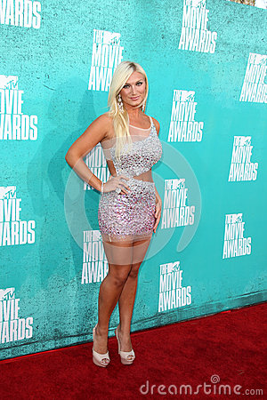 Brooke Hogan arriving at the 2012 MTV Movie Awards Editorial Image