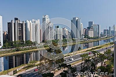 Brooklin Neighbourhood Sao Paulo Editorial Image