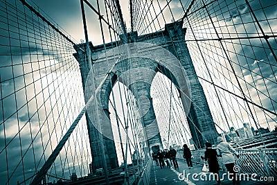 Brooklyn Bridge Editorial Stock Image