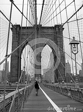 Free Brooklyn Bridge Black And White Stock Photo - 2956980