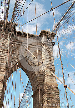 Free Brooklyn Bridge Detail New York USA Royalty Free Stock Image - 26358086