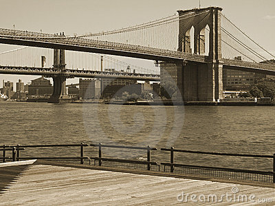 Brooklyn Bridge Duo-tone