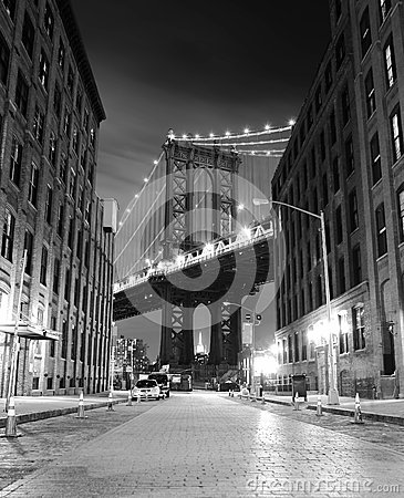 Free Brooklyn Bridge In New York. Photo Was Shot From Brooklyn S Side. Stock Photography - 46417602