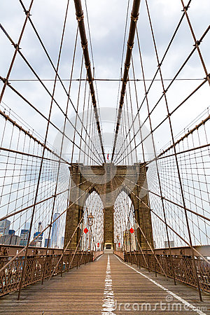 Free Brooklyn Bridge, Nobody, New York City USA Stock Image - 84938881
