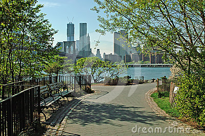 Brooklyn Bridge Park Waterfront New York City USA