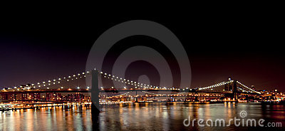 Brooklyn Bridge from South Street Seaport Editorial Photography