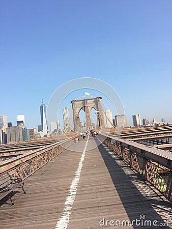 Brooklyn Bridge white flag