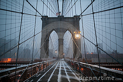 Brooklyn Bridge in the Winter