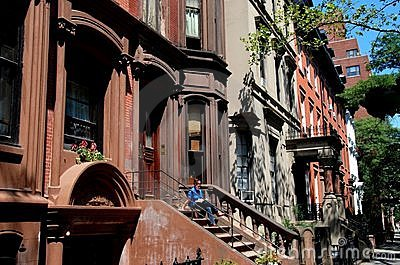 Brooklyn Heights, NY: 19th Century Brownstones Editorial Image