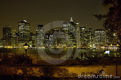 Brooklyn Heights view of Manhattan New York USA