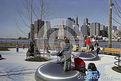 Brooklyn New York Playground USA Editorial Stock Photo