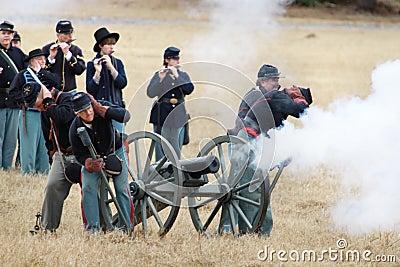 Brooksville Raid Re-enactment Editorial Image