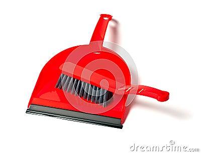 Broom and  bucket