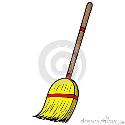 Broom Stock Vector Image 53713949