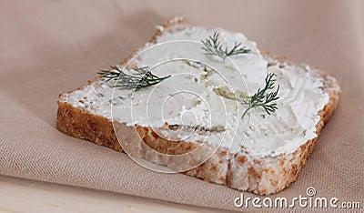 Brot mit Käse