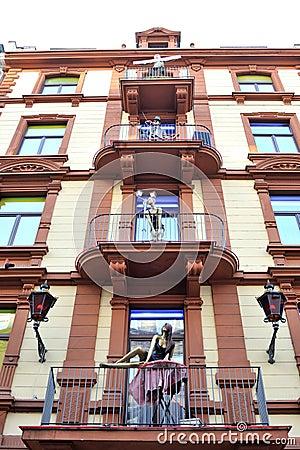 Brothel hotel facade