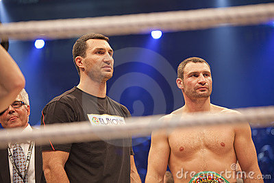 Brother Klitschko in ring Editorial Stock Photo