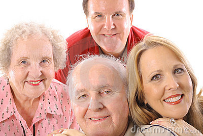 Brother & sister with elderly parents